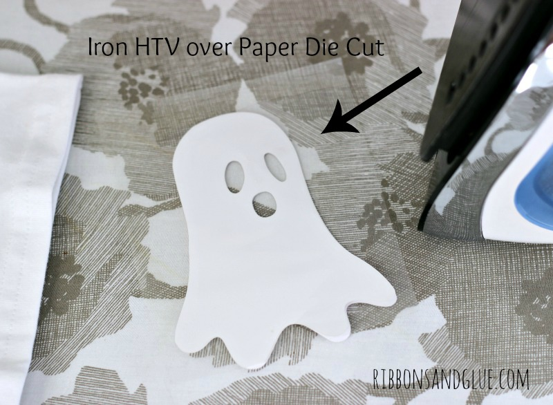 HTV iron on paper to make a glow in the dark ghost