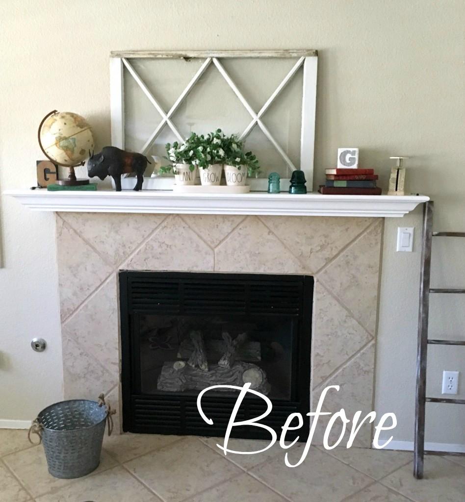 rental fireplace makeover
