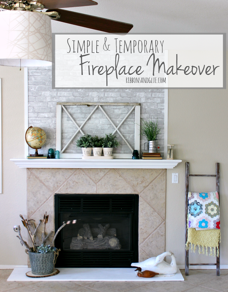 simple-temporary-fireplace-makeover