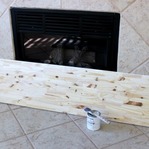 how to make a faux fireplace heart using a wood board