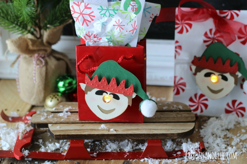 You've Been Elfed! 3D Elf Tealight Treat Bags made with Silhouette CAMEO