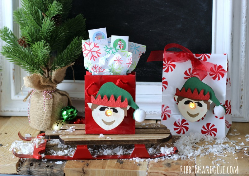 3d Elf Tealight Treat Bags made with Silhouette CAMEO