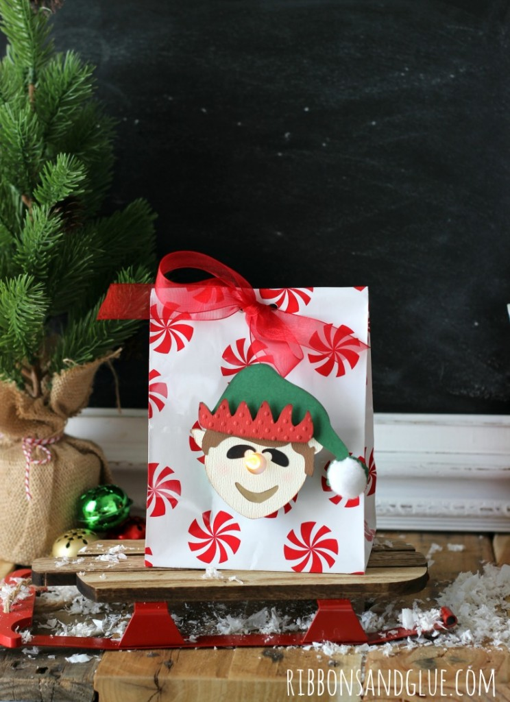 You've Been Elfed! 3D Elf Tealight Treat Bags. Leave a small gift for friends and neighbors to spread a little bit of Holiday cheer.