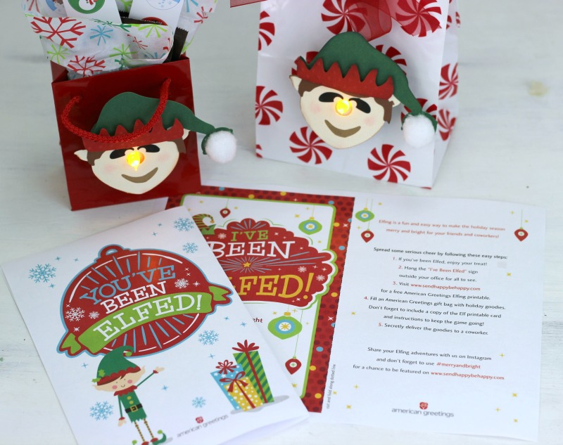 image regarding You've Been Elfed Printable identified as Youve Been Elfed! Tealight Deal with Luggage