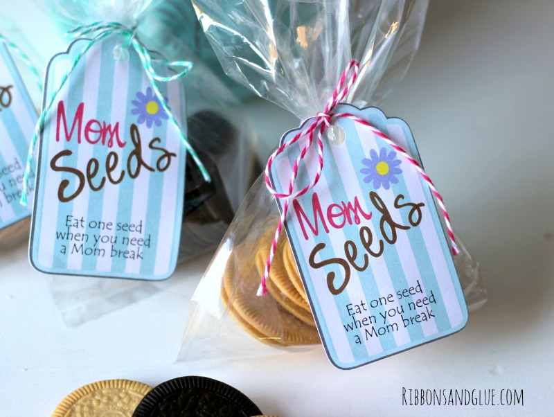 Mom Seeds Printable Tags. Have Mom eat one seed when she needs a break in her day.