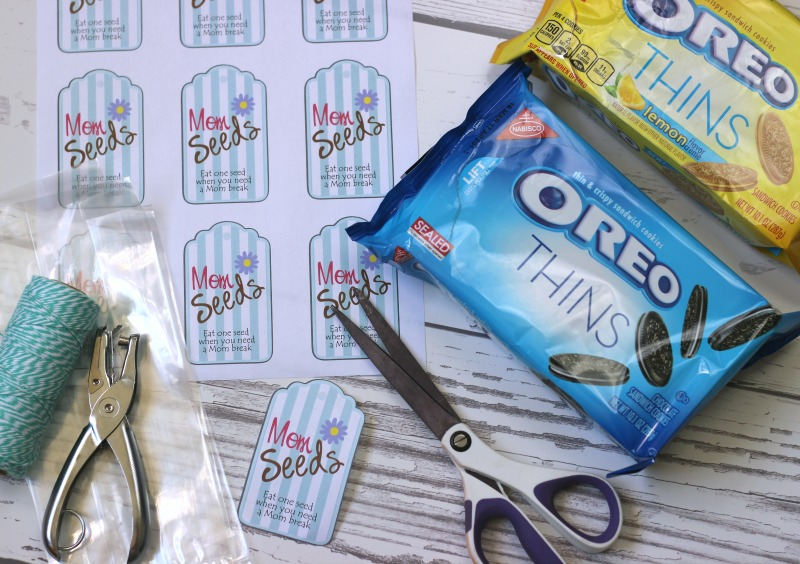 Mom Seed Printable tags. Fill bags with OREO cookies, and attach on to bag for when mom needs a break.