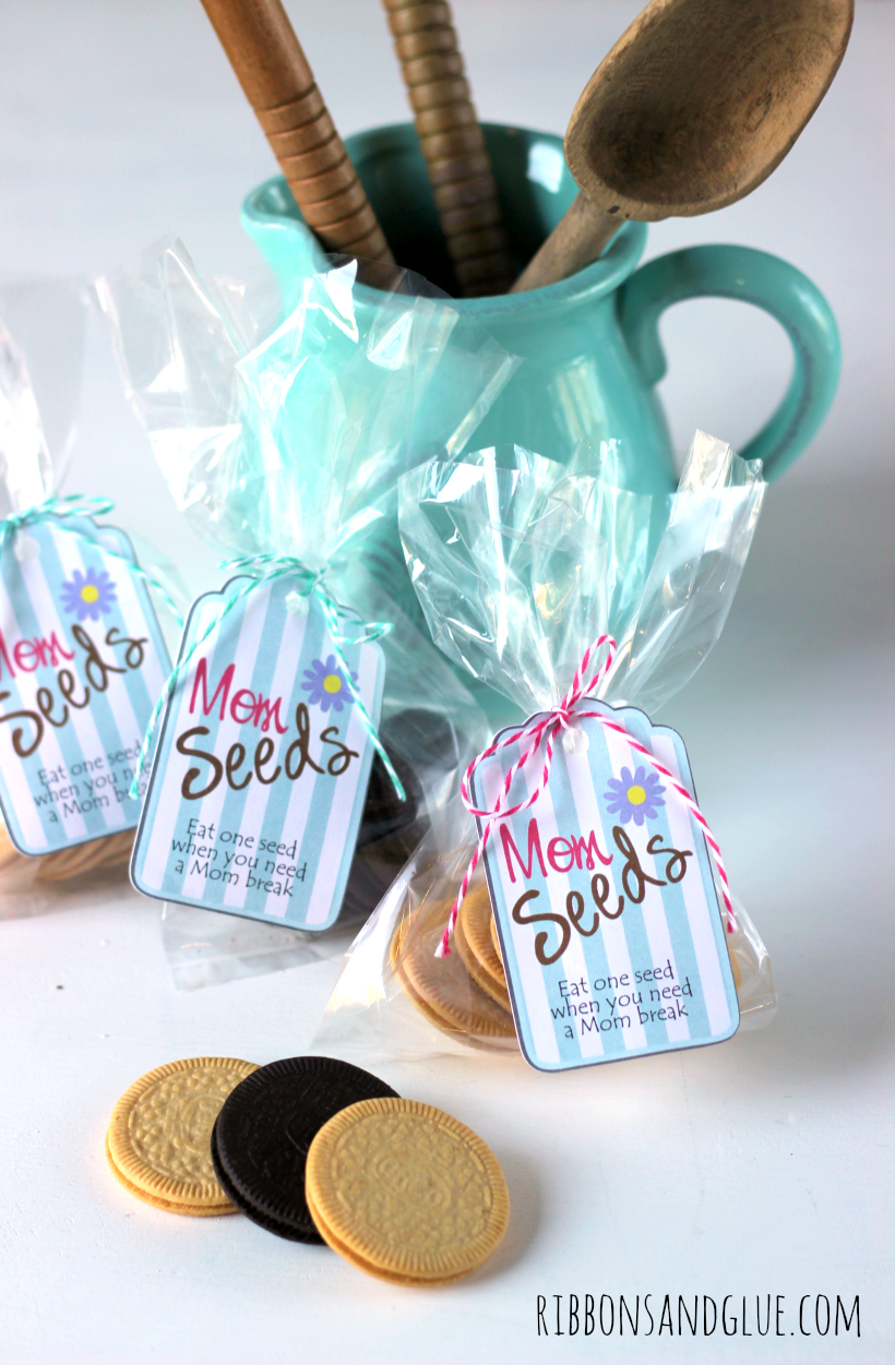 Mom Seeds Printable Tags. Have Mom eat one seed when she needs a break in her day. #OREOThinSide #ad #kroger