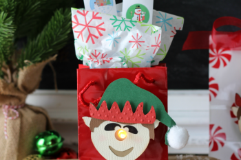 You've Been Elfed! 3D Elf Tealight Treat Bags
