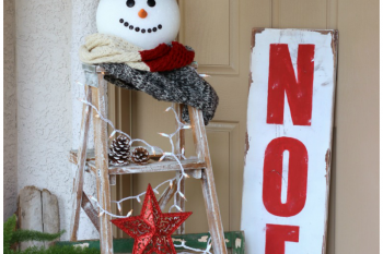Christmas Snowman Ladder