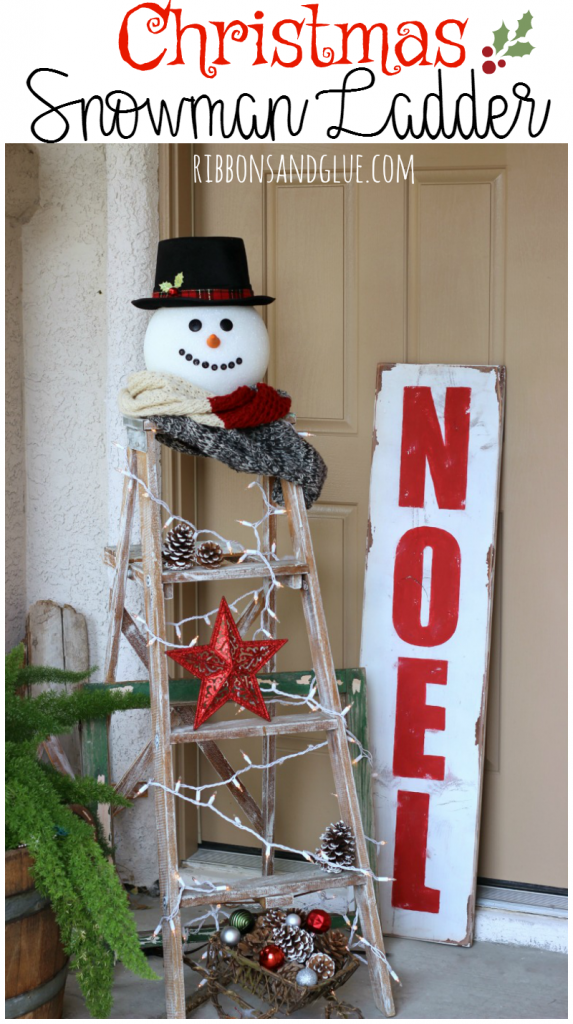 christmas-snowman-ladder
