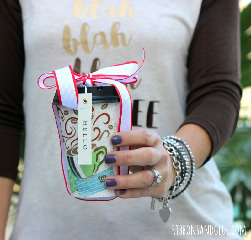 DIY Coffee Shirt in a Cup made with heat transfer vinyl and giving inside a @Dixie To Go Coffee cup. #CupForCrushingIt #ad
