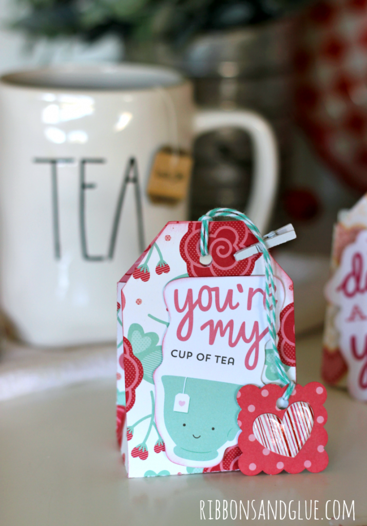 Valentine Tea Bags made with Valentine's paper filled with Bigelow Tea Bags. Creative way to give some love to your tea drinking Valentine's. #TeaProudly #ad #walmart