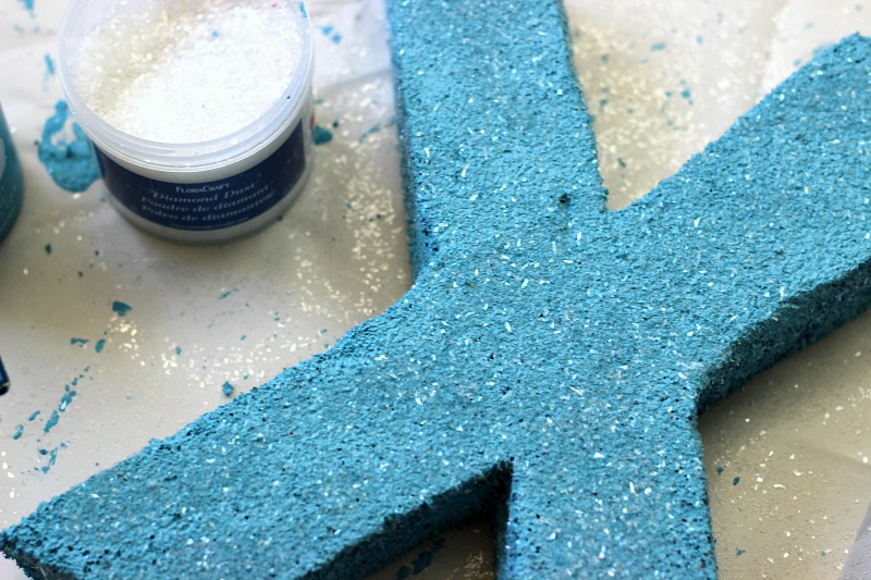 Foam Letters sprinkled with Diamond Dust glitter