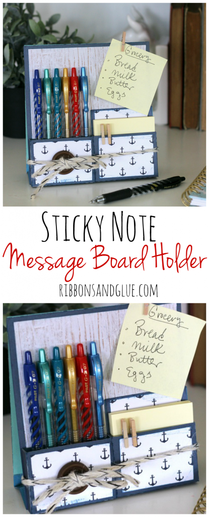 DIY Message Board filled with Pilot G2 Pens and sticky notes to help stay organized. #PilotYourLife #ad @target