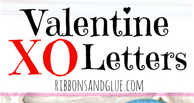 Valentine XO Letters