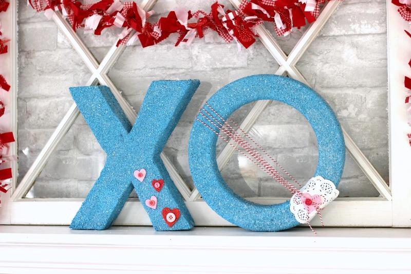 Valentines Foam XO letters