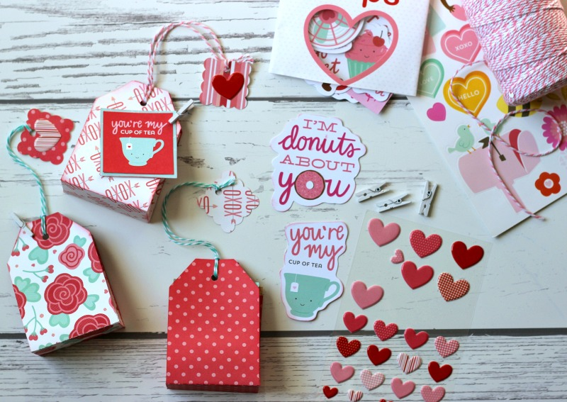 Valentine Tea Bags Made With Silhouette Embellished With Scrapbooking  Stickers.