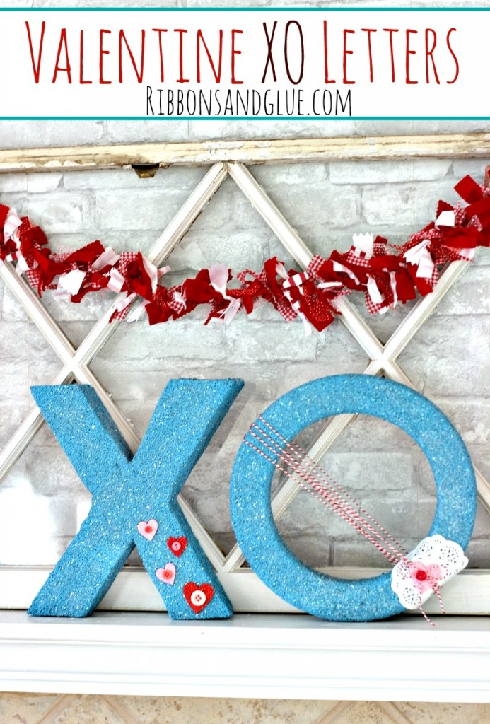 Valentine XO Letters made cut from FloraCraft foam cubes, Easy Valentine's Home Decor Craft #MakeItFunCrafts