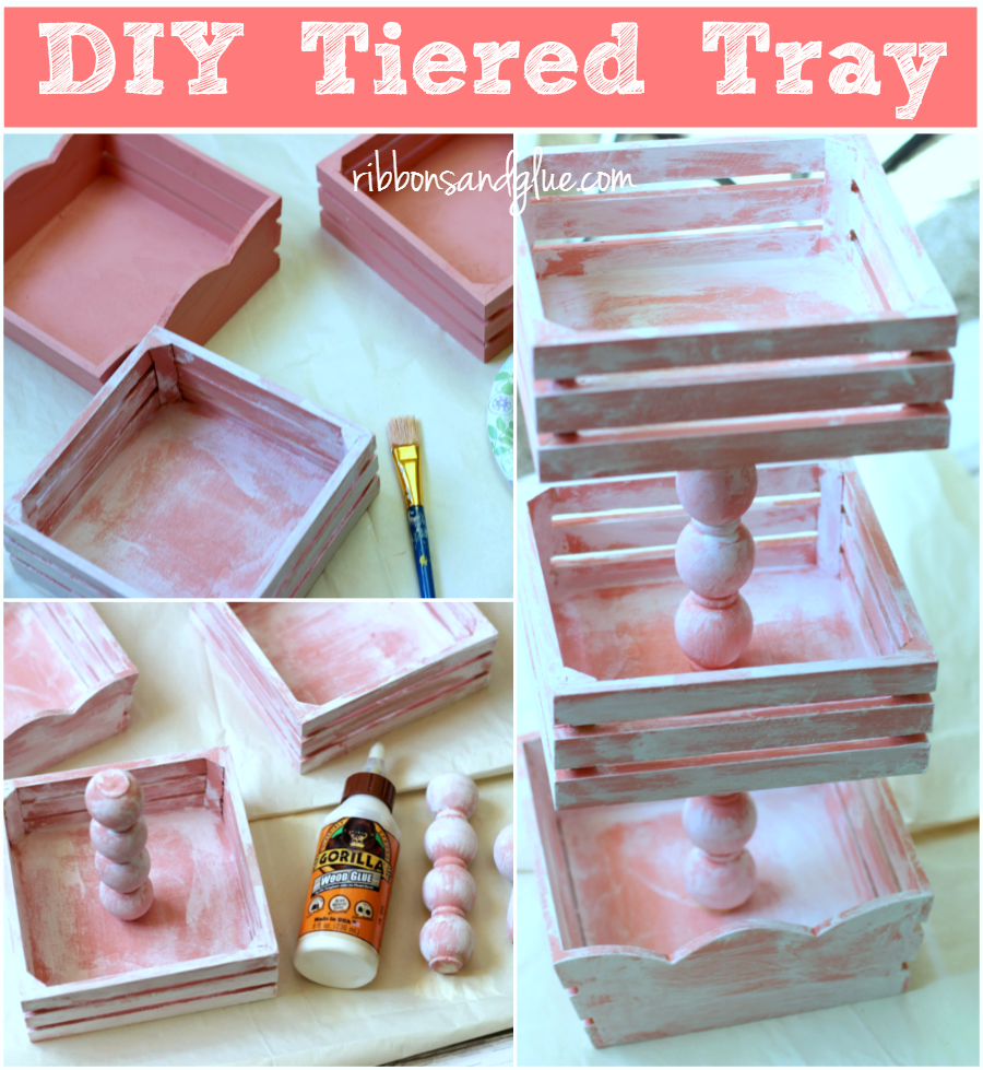 How to make a DIY Tiered Tray Tutorial