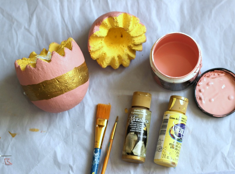 Painted Foam Egg to make Easter Egg Succulent Planter