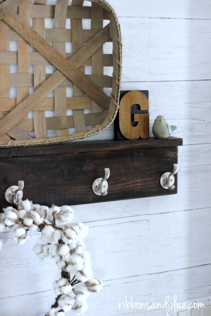 Crate Farmhouse Flair using Removable Shiplap wallpaper from Wallpops!
