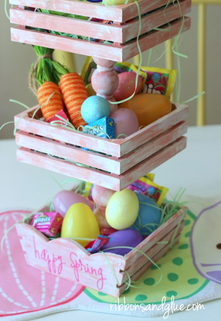 DIY Tiered Tray Easter Basket for spring