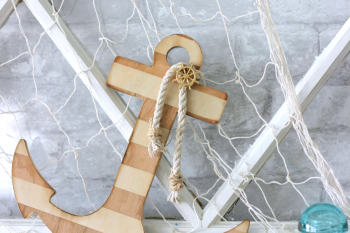 Nautical Faux Wood Anchor