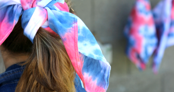 Easy Tie Dyed Bandannas