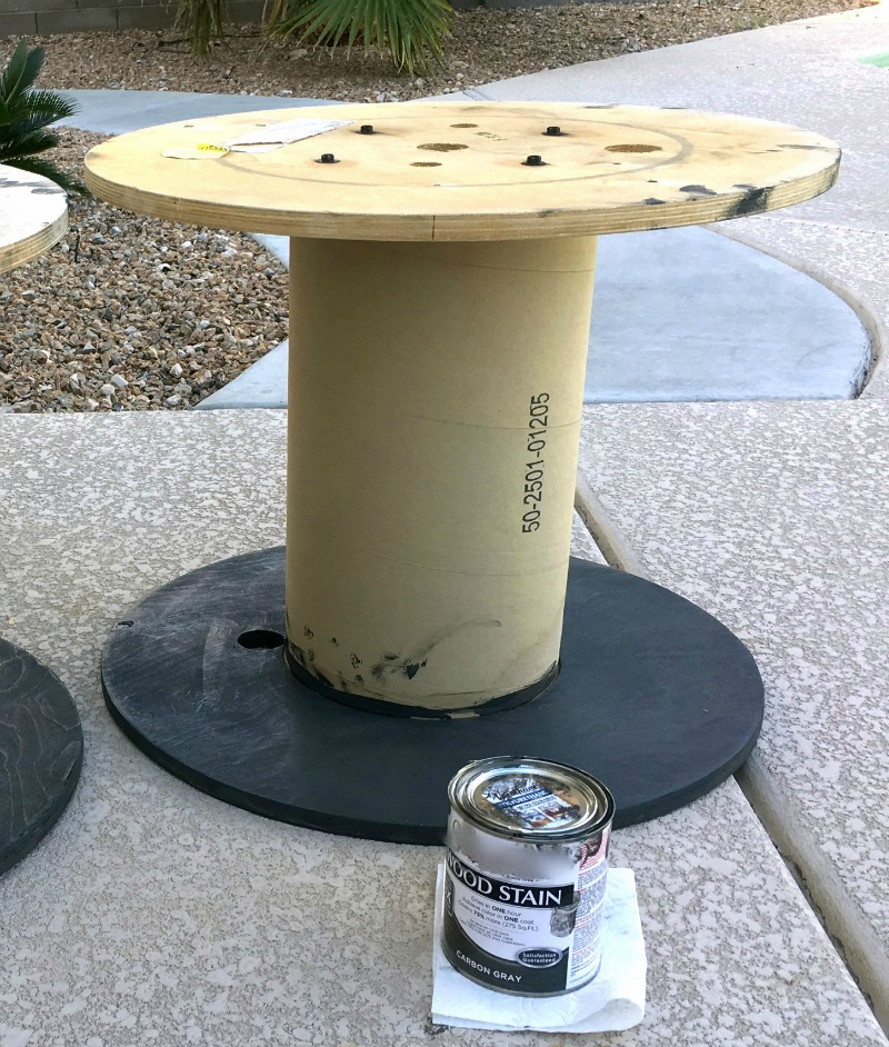 Diy outdoor spool table for Outdoor tables made out of wooden wire spools