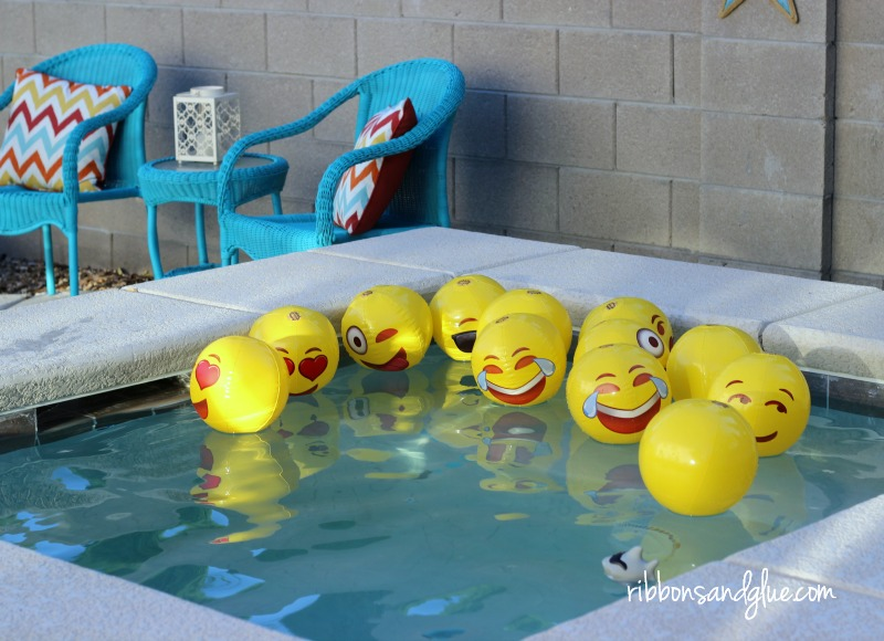 Inflatable emoji beach balls