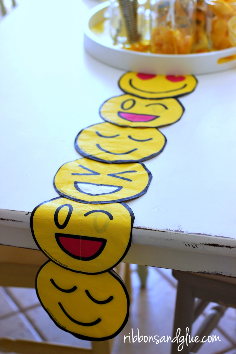 Create This Simple DIY Emoji Table Runner Out Of Napkins