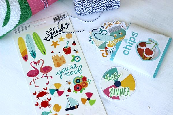 Summer Fun die cuts and stickers perfect for pool party favors