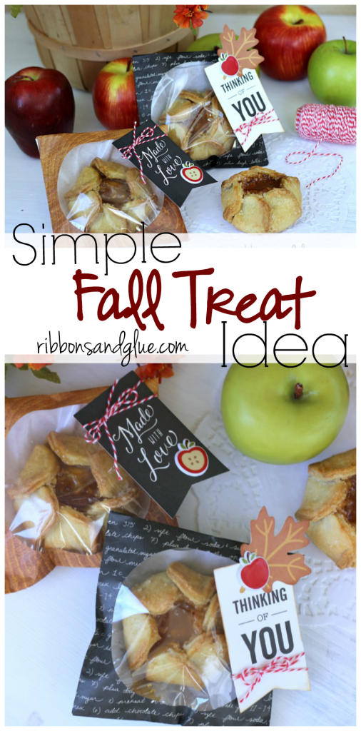 Fall Treat Cookie Bags . Easy Fall gift idea made with store bought treats packaged in Fall cookie bags and embellishments.