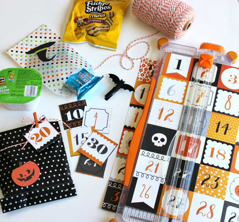 Halloween Treat Bag Countdown supplies