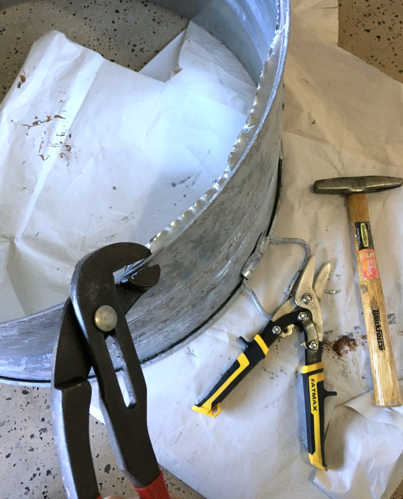 DIY Galvanized Bucket Christmas Tree Skirt