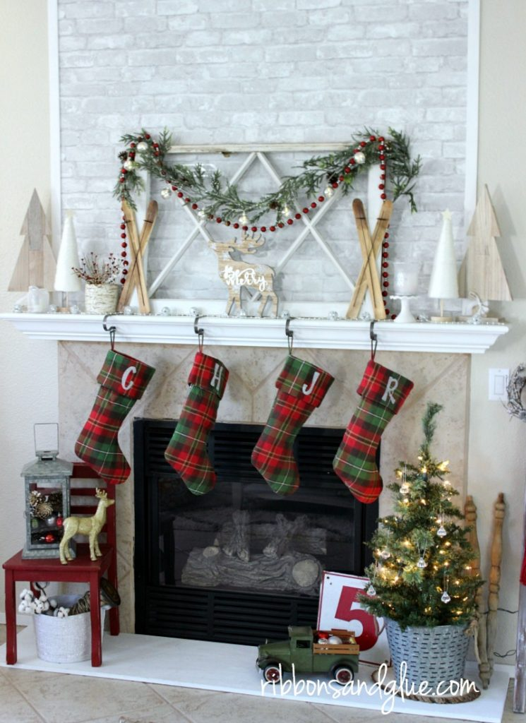 Easy personalized Christmas Stockings made with silver glitter heat transfer vinyl. #StockedWithLove #ad @target