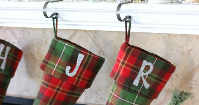 Easy Personalized Christmas Stockings