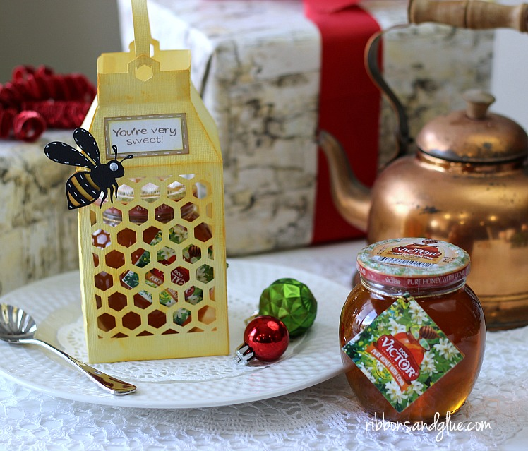 Honeycomb Paper Lantern Gift Box for the holidays
