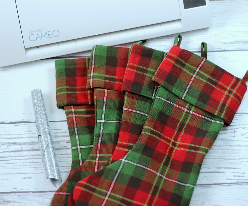 Easy Personalized Christmas Stockings. Plaid Christmas Stocking from Target after Christmas clearance.