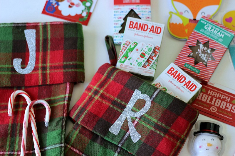 Stocking suffer ideas for kids with Band-Aids