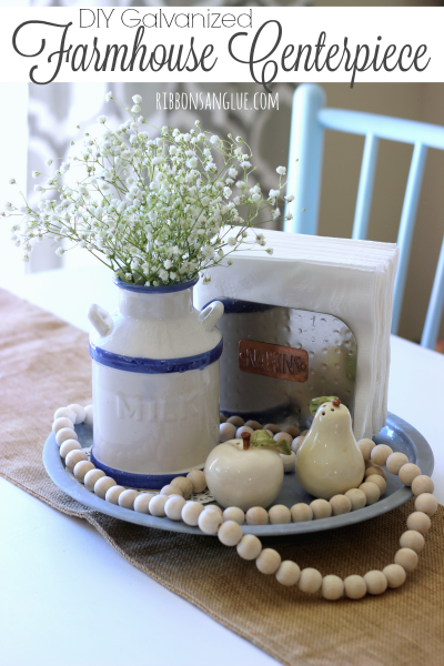 DIY Galvanized Farmhouse Centerpiece