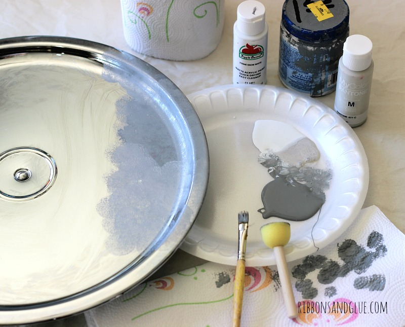 How to create a faux galvanized finish on shiny metal