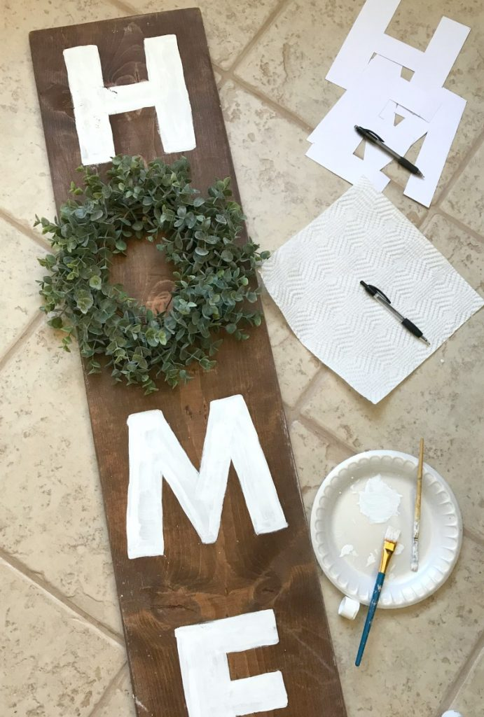 Farmhouse Home Sign with painted letters