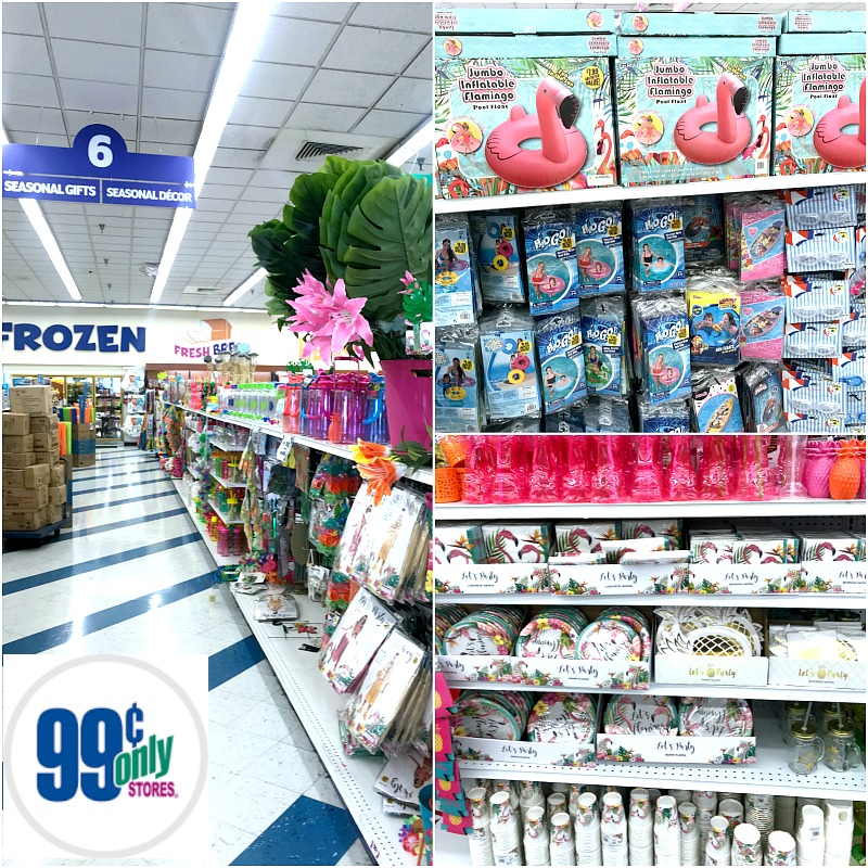 Flamingo party supplies from the 99 Cents Only stores