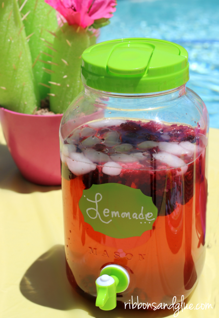Easy lemonade and mixed berry punch