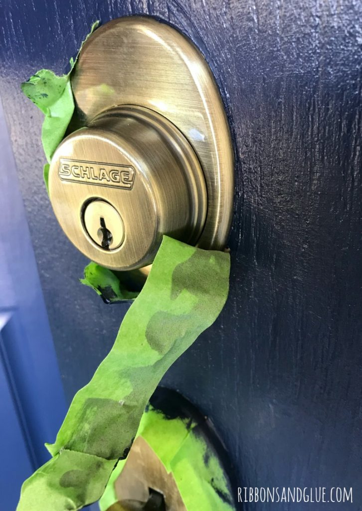 Frog Tape Painted Front Door