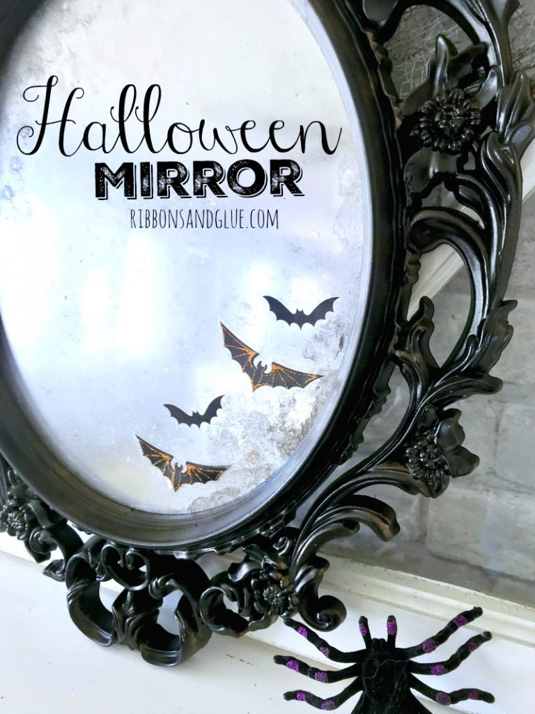 How to make a Spooky Halloween Mirror on a budget