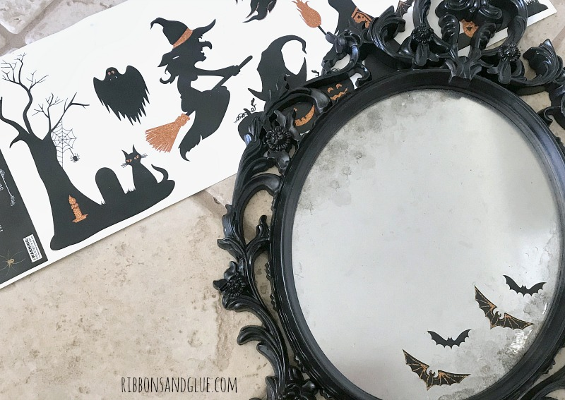 Halloween Window Clings on Spooky Mirror