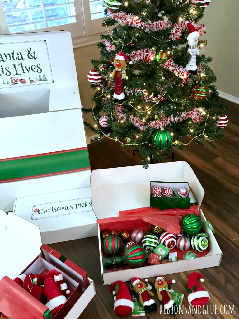 Santa and His Elves Christmas Tree Kit in a Box.