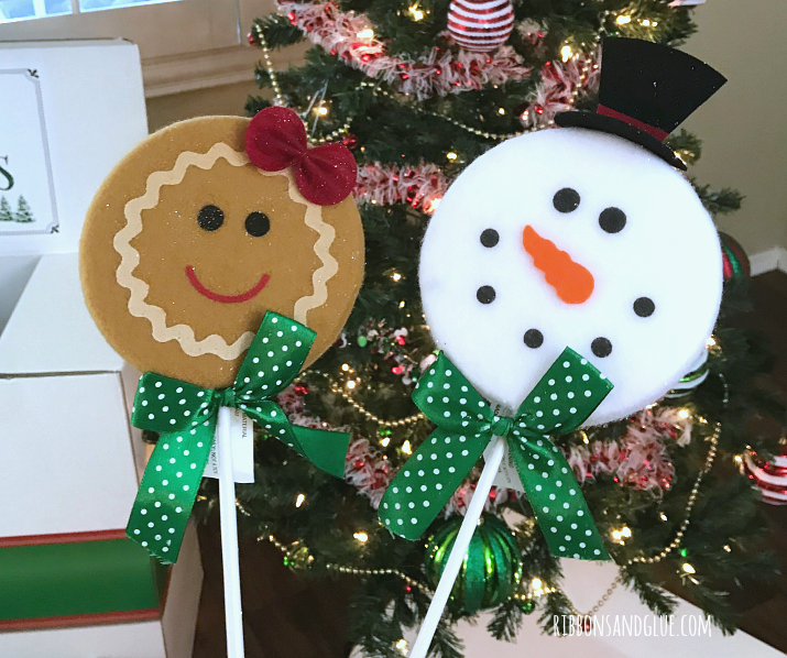 Snowman and Gingerbread picks for the Christmas Tree